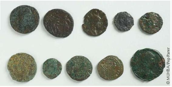 Monedes trobades a la Porta de Mar