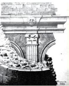 l'inici de l'enderroc, l'any 1862, d'una torre circular del segle IV que pertanyia al castellum